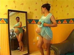 Russian Pregnant Girl Gets Horny