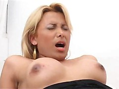 blonde shemale barebacked and creamed