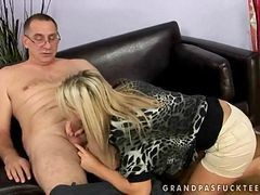 Sexy Teen Fucking With Grandpa