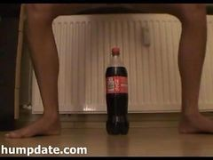 Skinny Teen Riding Huge Bottle