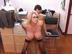Busty Mature Secretary Gets Fucked In Office
