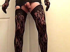 lace stockings and gloves
