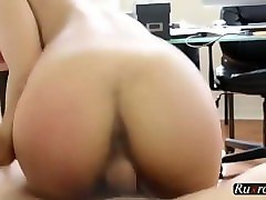 cute latina cycler learns to ride cock hd