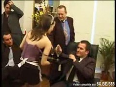 French Mature And Young Maid Gangbang