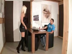 German Blond In Boots, Fucked By A Guy